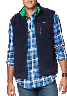 Chaps Big & Tall Fleece Mock Neck Vest