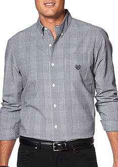 Chaps Big & Tall Glen Plaid Poplin Shirt