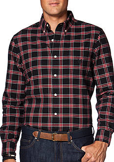 Chaps Big & Tall Checked Oxford Shirt