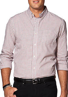 Chaps Big & Tall Two-Toned Tattersall Poplin Shirt