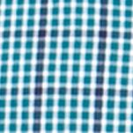 Chaps Clothing: Storm Teal Chaps Big & Tall Gingham Poplin Shirt
