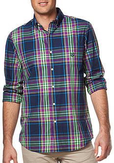 Chaps Big & Tall Plaid Poplin Shirt