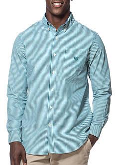 Chaps Big & Tall Striped Poplin Shirt
