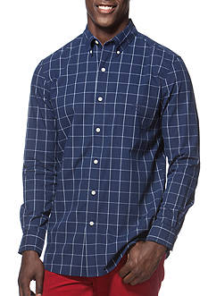 Chaps Big & Tall Tattersall Poplin Shirt