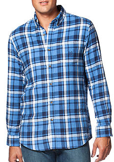 Chaps Big & Tall Plaid Flannel Shirt