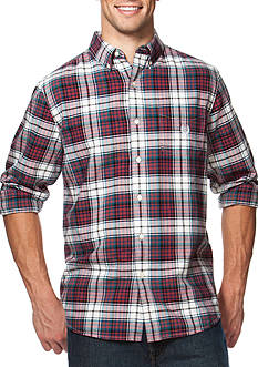 Chaps Big & Tall Tartan Oxford Shirt