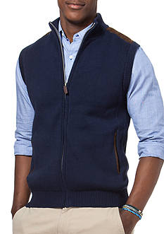 Chaps Big & Tall Full-Zip Sweater Vest