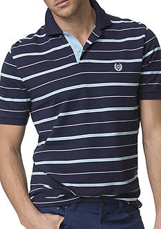 Chaps Big & Tall Striped Pique Polo Shirt
