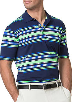 Chaps Big & Tall Striped Stretch Polo Shirt