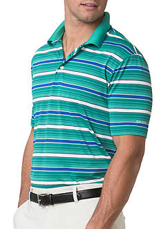 Chaps Big & Tall Striped Jersey Polo Shirt