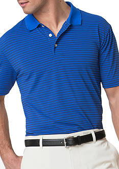 Chaps Big & Tall Striped Stretch Jersey Polo Shirt