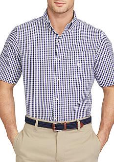Chaps Big & Tall Short-Sleeve Buffalo Check Shirt