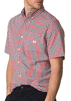 Chaps Big & Tall Short-Sleeve Buffalo Check Shirt