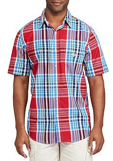 Chaps Short-Sleeve Plaid Shirt