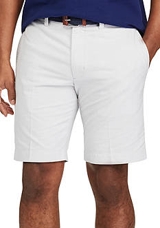 Chaps Big & Tall Flat Front Cotton Oxford Short