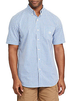 Chaps Big & Tall Short Sleeve Gingham Shirt