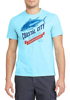 Chaps Big & Tall Coastal Bluefin Graphic Tee