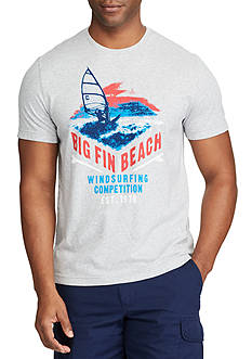 Chaps Big & Tall Big Fin Beach Graphic Tee