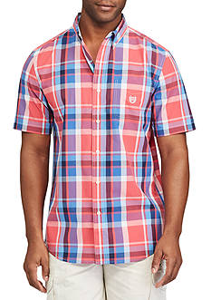 Chaps Big & Tall Short Sleeve Plaid Shirt