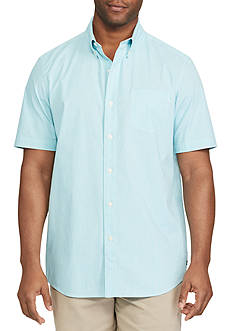 Chaps Big & Tall Short Sleeve Stretch Cotton Shirt