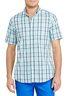 Chaps Big & Tall Short Sleeve Plaid Shirt