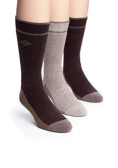 Columbia™ 3-Pack Combed Cotton Casual Tipped Crew Socks