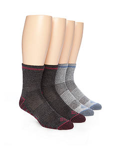 Columbia Lightweight Quarter Hiking Socks - 4 Pack