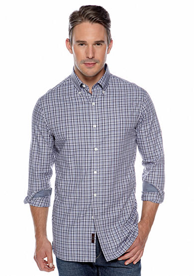 Black Brown 1826 Long Sleeve Capulet Check Plaid Shirt