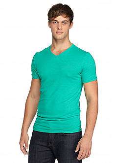 Red Camel Short Sleeve Solid Triblend V-Neckline T-Shirt