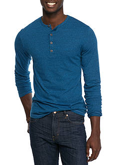 Red Camel Long Sleeve Matrix Henley T-Shirt