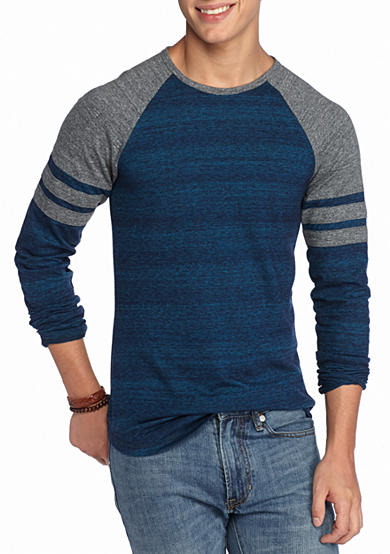 Red Camel® Long Sleeve Athletic Crew Neck Raglan T-Shirt