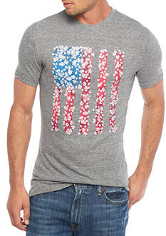 Red Camel Short Sleeve Flag Graphic Tee
