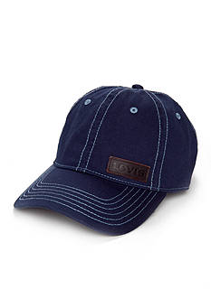 Levi's® Washed Cotton Twill Cap with Leather Patch