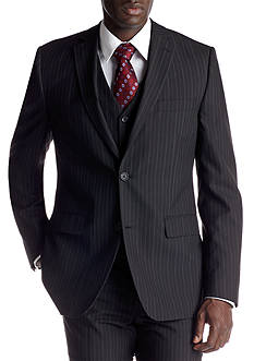 Savile Row Classic Fit Black Stripe Suit Separate Coat