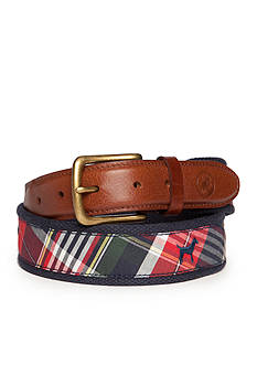 Southern Proper Navy Plaid Lab Belt