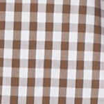 Men: Southern Proper Casual Shirts: Backroad Brown Southern Proper Gingham Goal Line Woven Shirt