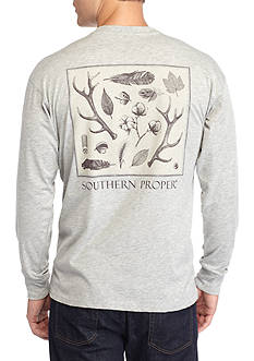 Southern Proper Long Sleeve Signs Of The Season Graphic Tee