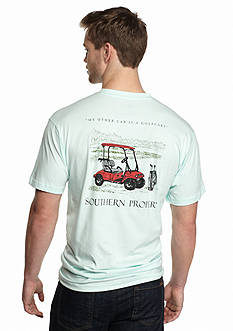Southern Proper Short Sleeve Golfcart Graphic Tee