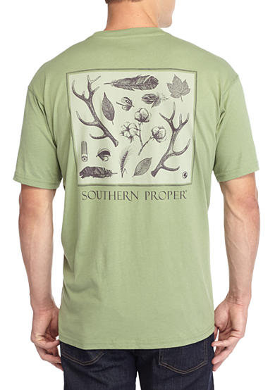 Southern Proper Short Sleeve Signs Of The Season Graphic Tee