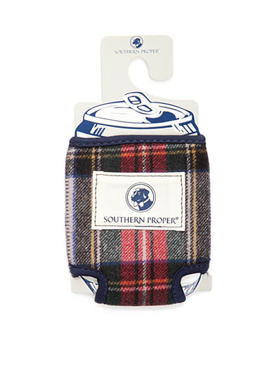 Southern Proper Plaid Coozie