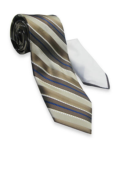Steve Harvey® Textured Stripe Tie and Pocket Square Set