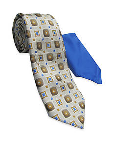 Steve Harvey® Medallion Tie and Pocket Square Set
