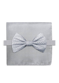 Steve Harvey® Neat Solid Bow Tie & Pocket Square