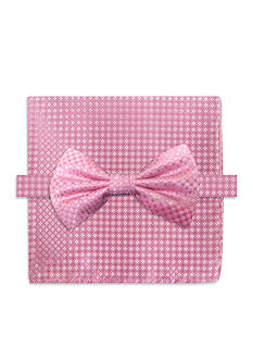 Steve Harvey Neat Solid Bow Tie & Pocket Square