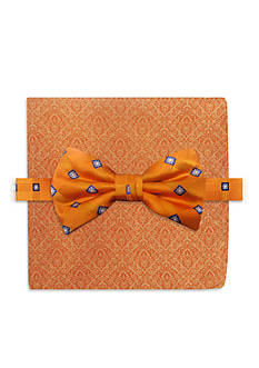 Steve Harvey Bow Tie Grid & Pocket Square