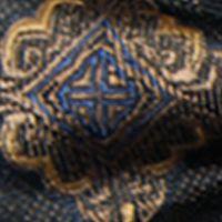 Mens Ties: Pocket Squares: Black Steve Harvey Medallion Bow Tie and Solid Pocket Square
