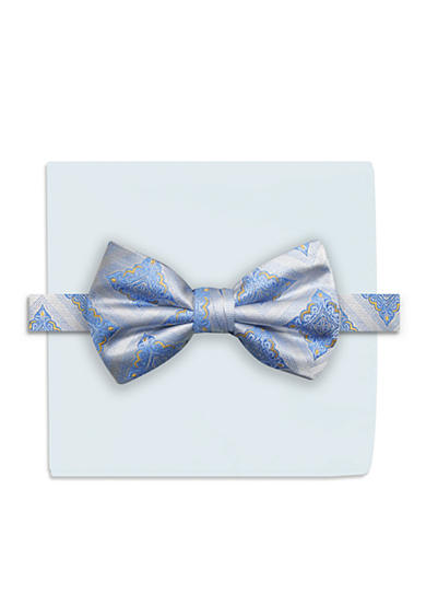 Steve Harvey® Medallion Bow Tie and Solid Pocket Square