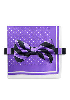 Steve Harvey Stripe Bowtie and Pocket Square