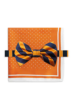 Steve Harvey® Stripe Bowtie and Pocket Square
