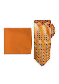 Steve Harvey Extra Long Neat Tie and Solid Pocket Square